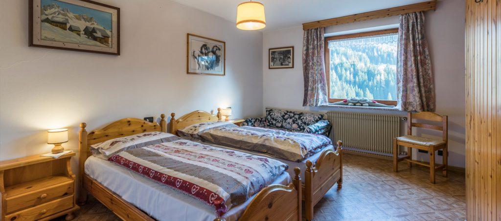 Antermoia appartamento vista Dolomiti
