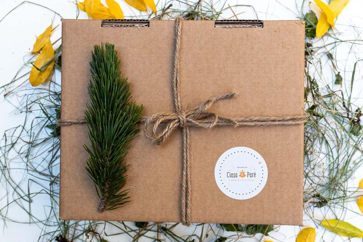 Cesti regalo con Prodotti Trentini Biologici dell'Azienda Agricola Biologica Ciasa dò Parè