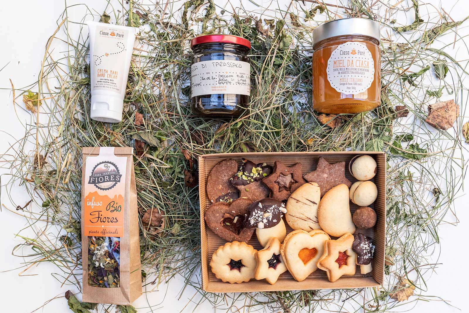 cesto regalo Coccole Invernali Prodotti Bio dell'Agritur Ciasa dò Parè