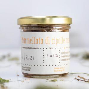 vasetto di marmellata cipolla dolce bio