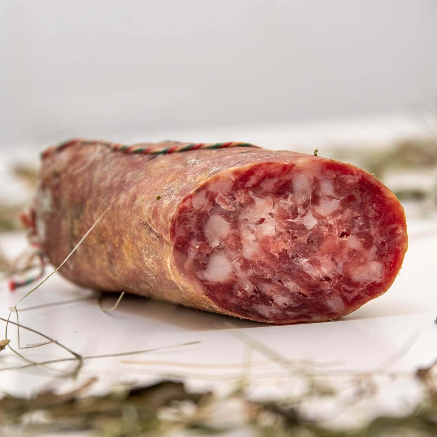 pasta del salame bio di capra e maiale